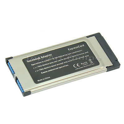 34mm Express Card Expresscard to 5Gbps 2 Port USB 3.0 Adapter for Laptop PC