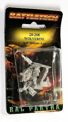 BATTLETECH MECH 20-208 WOLVERINE Miniature Sealed New BLISTER RAL PARTHA
