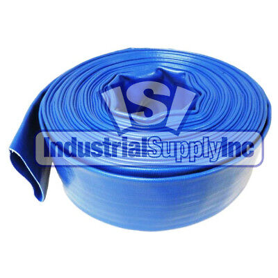 "2"" x 300 ft Roll Trash Pump Water Discharge Hose Blue"