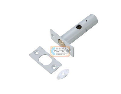 55mm WHITE SECURITY DOOR BOLT Dead Rack Lock with or without Star Key.