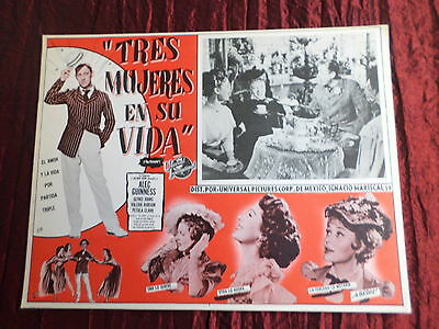 The Promoter ( The Card ) - Original Mexican Lobby Card - Alec Guinness