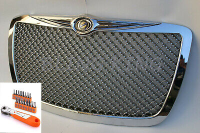05-2010 Chrysler 300 Chrome Mesh Bentley Grill Grille with Installation Tool