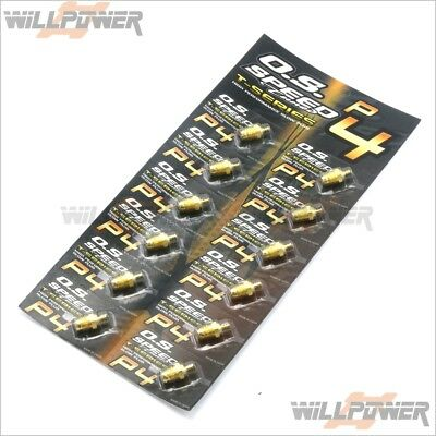 O.S. Speed P4 Turbo Glow Plug 24K Gold 12pcs (RC-WillPower) OS