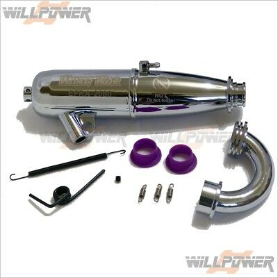 Hong Nor EFRA-2080 IN-LINE EXHAUST TUNED PIPE (RC-WillPower) HN JAMMIN Buggy