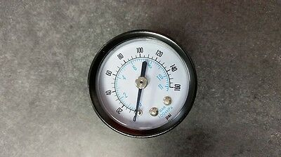 NEW (Lot of 8) Air Compressor Gauge 0-160 PSI 1-1/2 face 1/4 in MNPT Back Mount