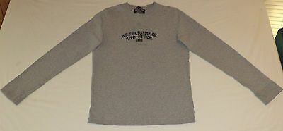 Abercrombie & Fitch - Muscle -Long Sleeve Gray Pullover Shirt       S     K#9599