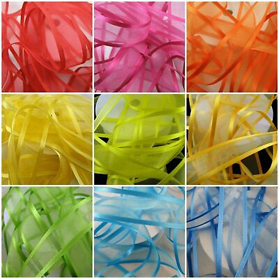Organza Chiffon Ribbon with Double Sided Satin Edge Great For Weddings / Florist
