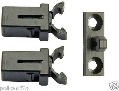 2x Replacement Touch Latch catch for Brabantia & Similar Bin Lid + FREE STRIKE