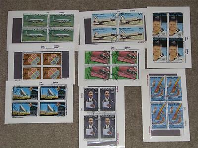Rep. of Djibouti, Small Lot of Blocks of 4, CTO`s
