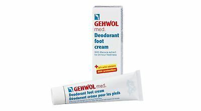 Gehwol Med Deodorant Foot Cream - 24 Hour Odour Protection - Prevents Itchy Skin