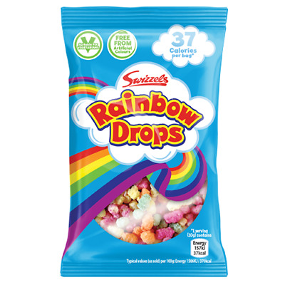Rainbow Drops Bags Swizzels Matlow Sweets Party Bag Retro Candy 10 - 60 Full Box