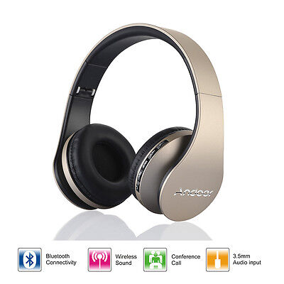 Andoer LH-811 Bluetooth 3.0 Stereo Headphone Headset with Mic for Smart Phone