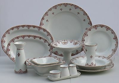 Dinner set for 6 /33 pcs TERRACOTA FRIEZE, Lomonosov Imperial Porcelain, Russia
