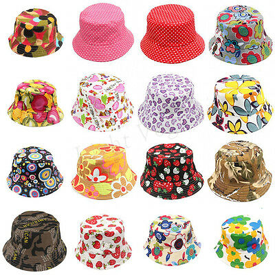 2018 Toddler Girl Baby Kid Bucket Hat Summer Cap Beach Sun Outdoor Bonnet Beanie
