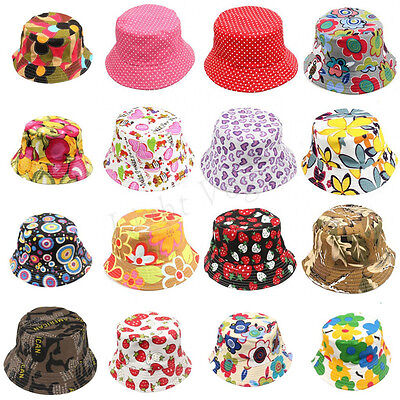 Toddler Girl Baby Kids Bucket Hat Summer Cap Beach Sun Outdoor Bonnet Beanie 164