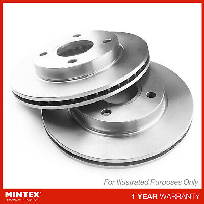 New Mintex Front Vented Brake Discs Set Pair - Mdc1394