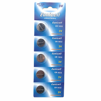 5 X Eunicel Cr1632 Dl1632 Kl1632 Br1632 L1632 Lithium Coin/Button Cell Battery