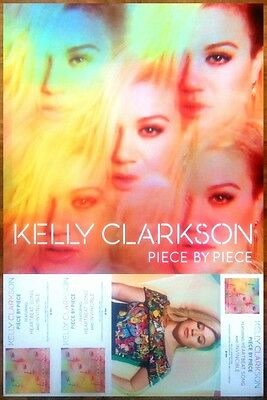 KELLY CLARKSON Piece By Piece 2015 Ltd Ed New RARE Poster +FREE Pop Rock Poster!