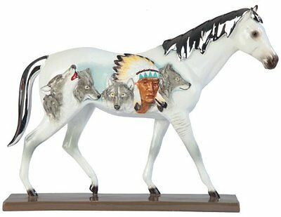 11.25 Inch Native American White Horse Animal Figurine Statue Collectible Wild