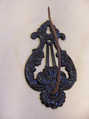 Black Cast  Iron Victorian Fancy Antique Paper Receipt Hook