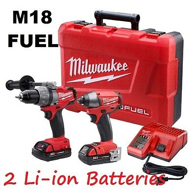 Milwaukee 2791-22CT M18 FUEL Brushless Drill and Impact Driver 18V Li-ion Kit