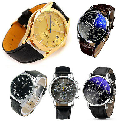 Mens Watch Top Luxury Mechanical Automatic Calendar Leather Band Wrist Watches