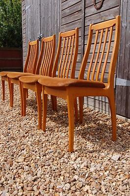 Smashing Set of Four Danish Inspired Vintage Retro Dining Chairs 1960's 1970's