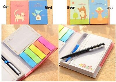 Book with Pen Sticky Memo/ Sticker/ Post it Notes/ Pad *different picture*