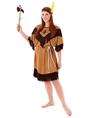 Native Red Indian Pocahontas Ladies Fancy Dress Squaw Outfit Costume Womens Lady  sc 1 st  PicClick UK & NATIVE RED INDIAN Pocahontas Ladies Fancy Dress Squaw Outfit Costume ...