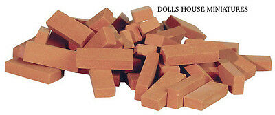 Common Clay Bricks 50pc Dolls House Miniature 1.12th Scale