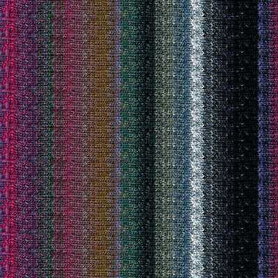 Noro ::Silk Garden Sock #S413:: silk mohair yarn Black-Teal-Wine-Nut-Silver