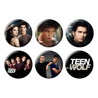 Teen Wolf Tyler Posey Scott Werewolf TV Show Horror Drama 6 Buttons/Magnets