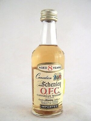 Miniature circa 1964 Schenley OFC Canadian Whisky Isle of Wine