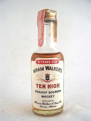 Miniature circa 1970 Ten High Bourbon Whiskey Isle of Wine