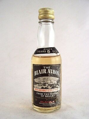 Miniature circa 1975 Blair Athol 8YO Malt Whisky Isle of Wine