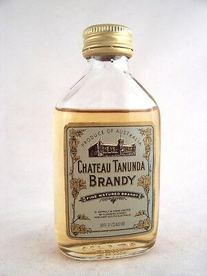 Miniature circa 1980 Chateau Tanunda Brandy Isle of Wine