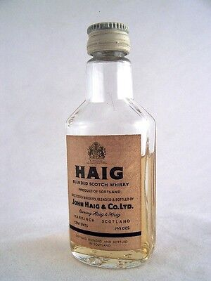 Miniature circa 1963 Haig Blended Scotch Whisky Isle of Wine