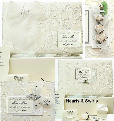 LARGE Hearts & Swirls PERSONALISED Wedding Keepsake Box 5 Motif/12 Colour/Extras