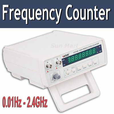 Risepro VC3165 Radio Frequency Counter RF Meter 0.01Hz~2.4GHz Period Tester