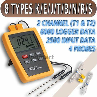 Risepro Type K E J T B N R S Thermometer mV Thermocouple High Temperature 1800°C