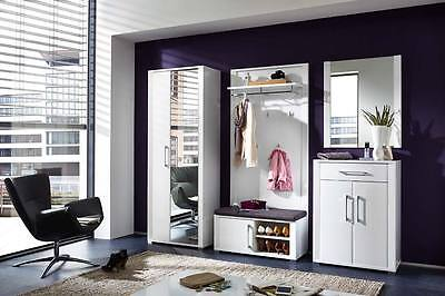 garderobe flurgarderobe hochglanz lack glanz wei eiche san remo hell neu 23761 eur 777 00. Black Bedroom Furniture Sets. Home Design Ideas