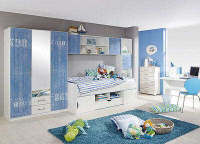 pm clb12 kinder jugendzimmer komplett erweiterbar bett schrank schreibtisch set eur 834 01. Black Bedroom Furniture Sets. Home Design Ideas