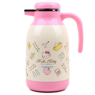 Japan Skarter Hello Ktitty With Handle Stainless Steel 1.3L Warm Bottle 242342