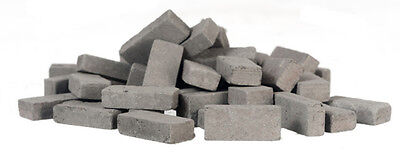 Charcoal Bricks Approx.325 Bricks, Miniatures 1.12 Scale Building Components