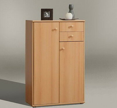 kommode massiv braun vintage used look anrichte schrank. Black Bedroom Furniture Sets. Home Design Ideas