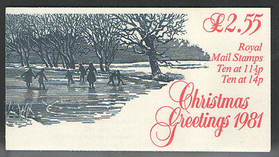 FX4a / DB10(4)/1 Miscut Pane 1981 Christmas Booklet **