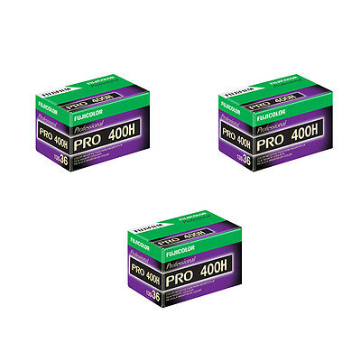 3 Rolls Fuji Pro 400H 135-36 (36 Exp) Color Negative IS0 400 35mm Film 05/2021