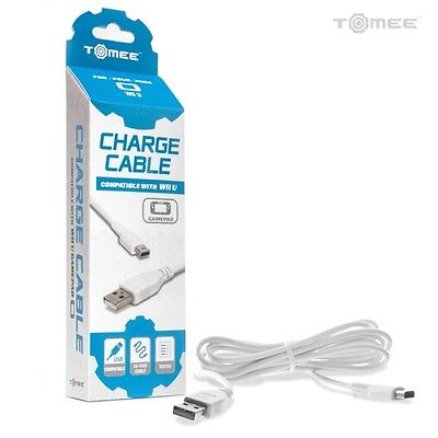 Usb Data Sync Charger Charging Cable Lead For Nintendo Wii U Gamepad Controller