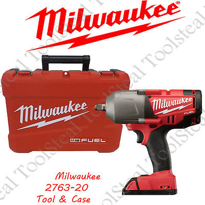 "Milwaukee 2763-20 M18 FUEL 1/2"" High Torque Impact Wrench TOOL & CASE COMBO !!!!"