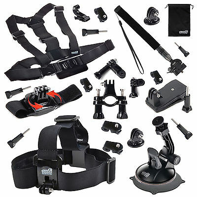 EEEKit Outdoor Sports Essentials Accessory Mounts Holder Kit for Action Camera